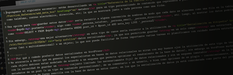 Nuevo plugin para WordPress: CodeMirror for Post Editor